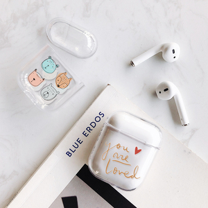 Image 2 - Case for Airpods Cute Earphone Case For AirPods 1 2 Cartoon Wireless airpods Accessories for Airpods Transparent Hard PC Cover