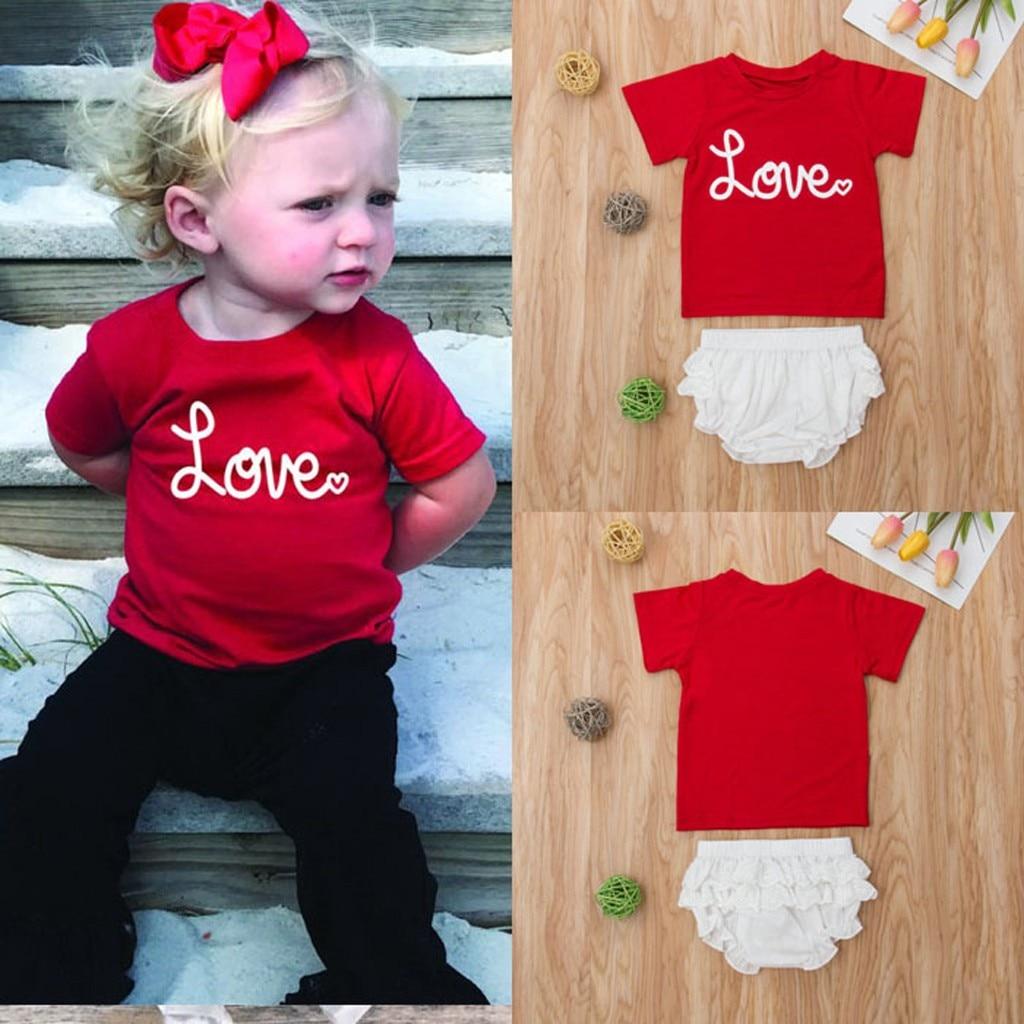 Kinder Kleidung Kleinkind Baby Jungen Mädchen Kurzarm Brief T-shirt Tops + Shorts Baby Set Outfit Bebek Giyim Vetement Enfant Fille Eine Hohe Bewunderung Gewinnen