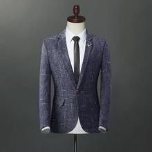 2019 New Arrival Luxury Men Blazer Suit Jacket For Jackets Casual Slim Fit Dress Suits Plus Size M-4XL