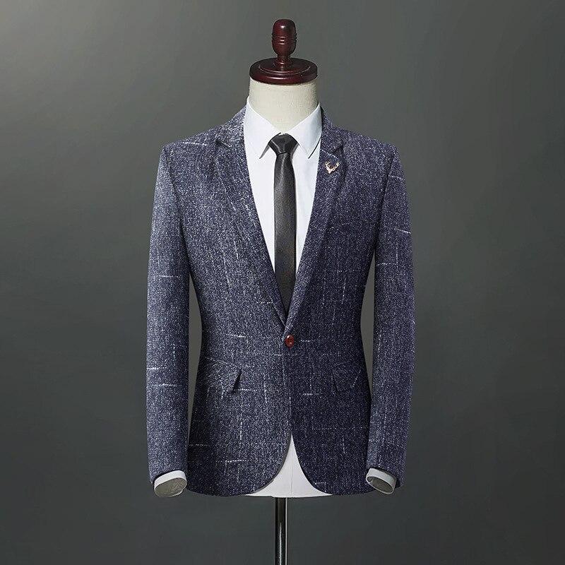 2019 New Arrival Luxury Men Blazer Suit Jacket For Men Suit Jackets Men Casual Slim Fit Dress Suits Blazer Plus Size M 4XL
