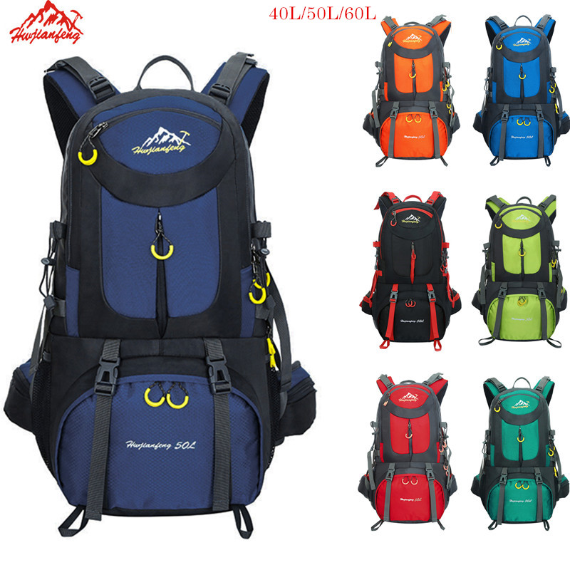 Trekking Backpack 60L Waterproof Sports Bag Travel Backpack Climbing Mountain Bag 40L Hiking Camping Skiing Tourist Backpack 50L