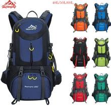лучшая цена Trekking Backpack 60L Waterproof Sports Bag Travel Backpack Climbing Mountain Bag 40L Hiking Camping Skiing Tourist Backpack 50L