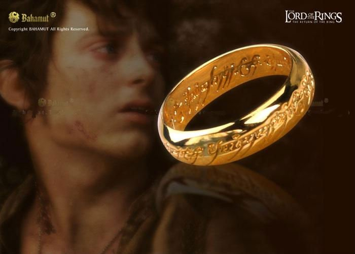 LOTR Ring Gold Plated Ring Pendant Movie Jewelry 18k Gold Plated
