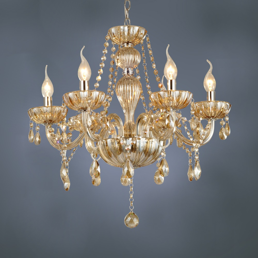 Modern Arm Chandelier: Free Shipping DHL 6 Arm Chandelier Modern Crystal Lamp