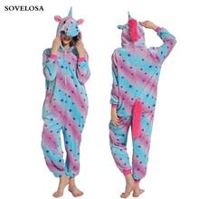 New Adult Pajamas Sets Kigurumi Onesie Anime Women Costumes Cosplay Cartoon Animal Sleepwear Unicorn Autumn Winter Hooded Pijama