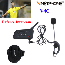 1PCS Football Referee Intercom Headset Vnetphone V4C 1200M Full Duplex Bluetooth Headphone with FM V4C Referee Interphone