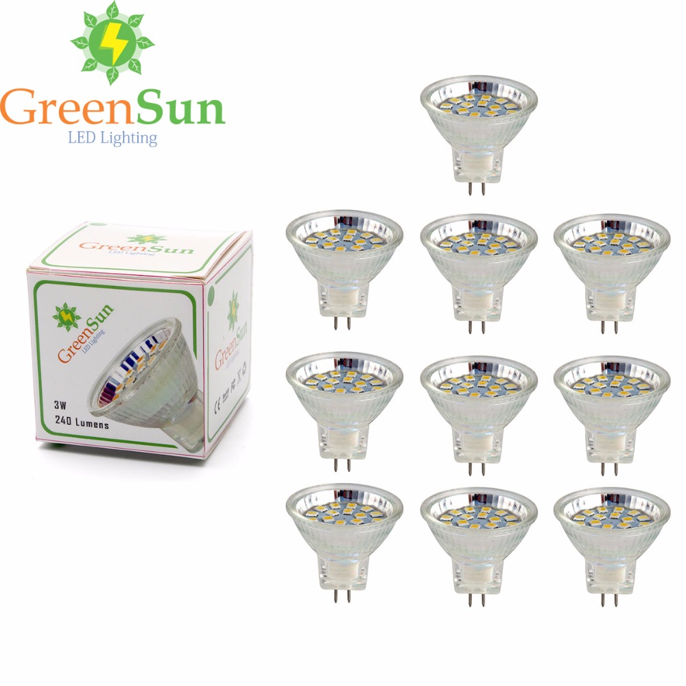 10Pcs Set 3W 5W MR11 Led Spotlight GU4 LED Bulb 2835 SMD Lamp Energy Saving Spot Light Bulb Cool/Warm White AC/DC 12-30V