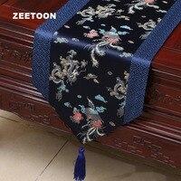 Classical Wedding Decoration Brocade Satin Table Runner Tablecloth / Home Placemat TV Cabinet Long Mats Tea Napkins Art Bed Flag
