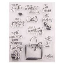Words Phrase Greeting Rubber Clear Stamps Transparent Silicone Seal for DIY Scrapbooking Photo Album Decorative Template Crafts