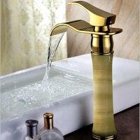 Continental Gold Classic Vintage Copper bathroom vanities heightening jade factory direct counter basin faucet