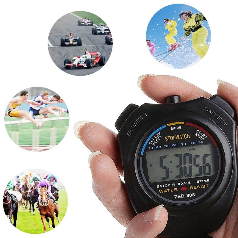 Messung Und Analyse Instrumente Sinnvoll Handheld Digital Lcd Sport Stoppuhr Chronograph Zähler Timer W/strap # Sep.07