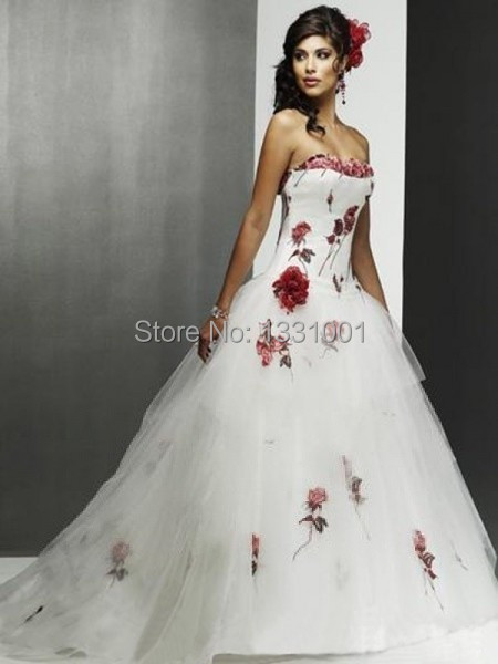Red And White Wedding Dresses For Sale