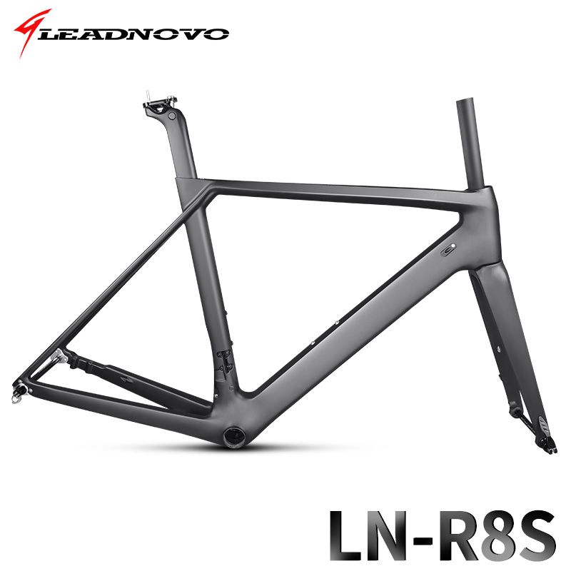 mountain bicycle frameset Carbon Road bike Frame T800 QR or thru axle disc brake carbon fibre bicycle frame 47/49/51/53/55cm 2017 flat mount disc carbon road frames carbon frameset bb86 bsa frame thru axle front and rear dual purpose carbon frame