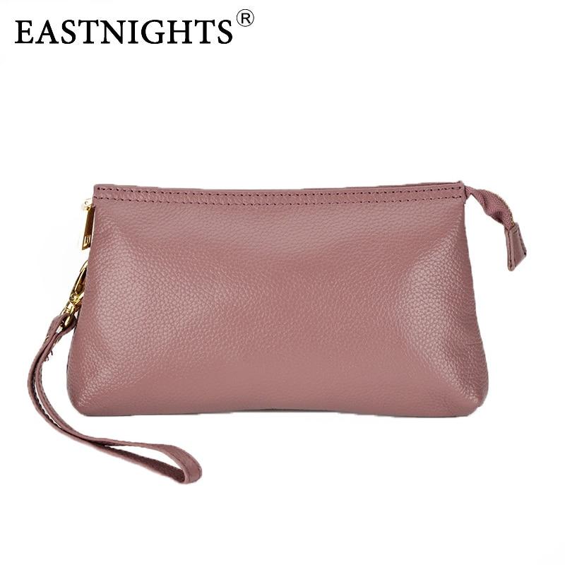 EASTNIGHTS Genuine Leather Women Clutch Bag Evening Bag Women 39 s Handbag Shoulder Bag Female Messenger Bag bolsas Clutches TW2520 in Clutches from Luggage amp Bags