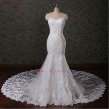 JULIA KUI Vestidos De Noiva lace mermaid Wedding Dress