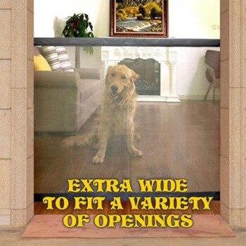 Barrera para mascotas Magic-Gate, red de malla transpirable plegable portátil, barrera de seguridad para perros de protección para interiores y exteriores