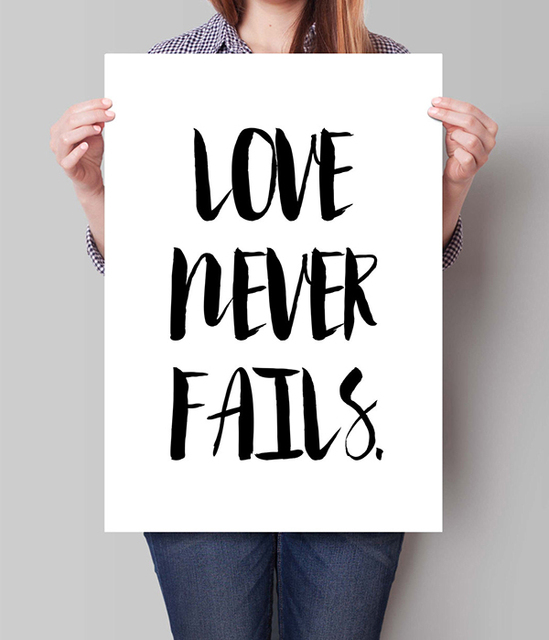 GICLEE Print Love Never Fails Digital wall Art Inspirational ...