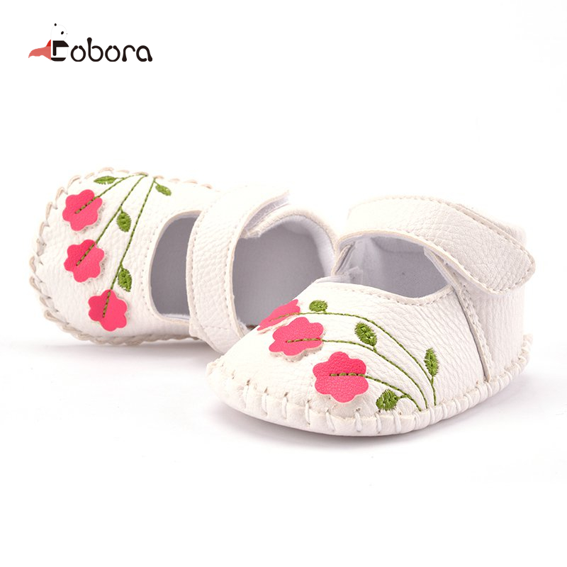 Cute Brand Floral Autumn White Toddler First Walkers Baby Boy Girl Shoes Sneakers Moccasins Boots Hot Sapato Menina