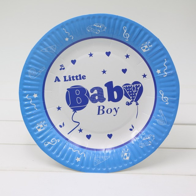 HOT 30pcs/lot 7 inch Paper Plates kids 1st Birthday Wedding Nursery Party Tableware Party & HOT 30pcs/lot 7 inch Paper Plates kids 1st Birthday Wedding Nursery ...