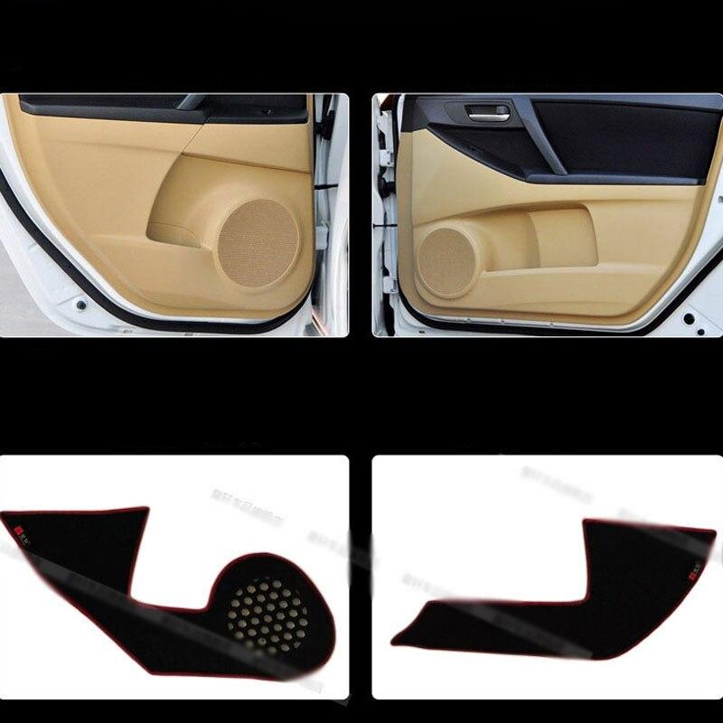 Ipoboo 4pcs Fabric Door Protection Mats Anti-kick Decorative Pads For Mazda 3 2013-2015 ipoboo 4pcs fabric door protection mats anti kick decorative pads for hyundai elantra 2012 2015