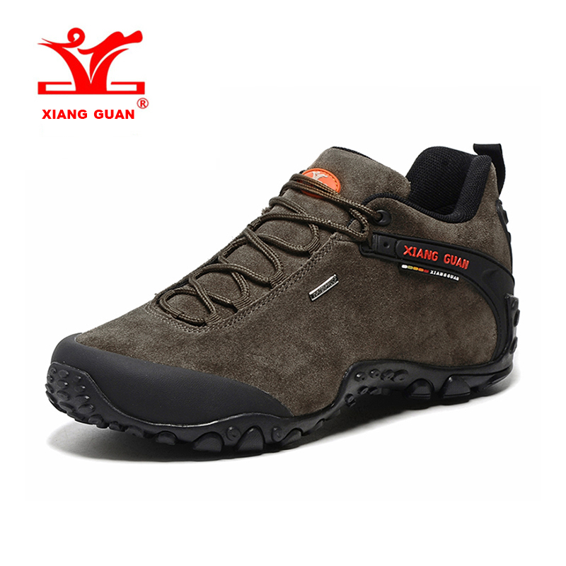 XIANG GUAN Large Size Mens Outdoor Hiking Shoes Waterproof Breathable Sports Shoes Climbing Shoes Free Shipping 81285