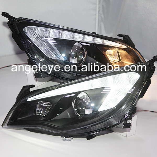 For GM  For Buick Excelle XT for Opel Astra LED Head Lamp 2010 to 2013 year Black Housing SN