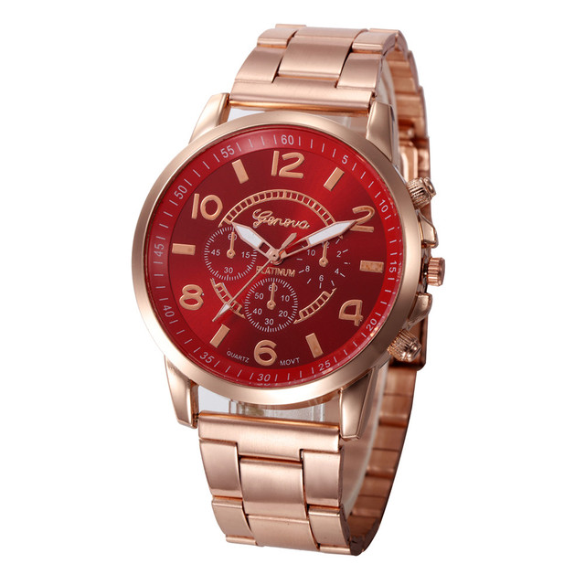Luxury Women Waterproof Geneva Watch Gold Fashion Design Bracelet Watches Ladies