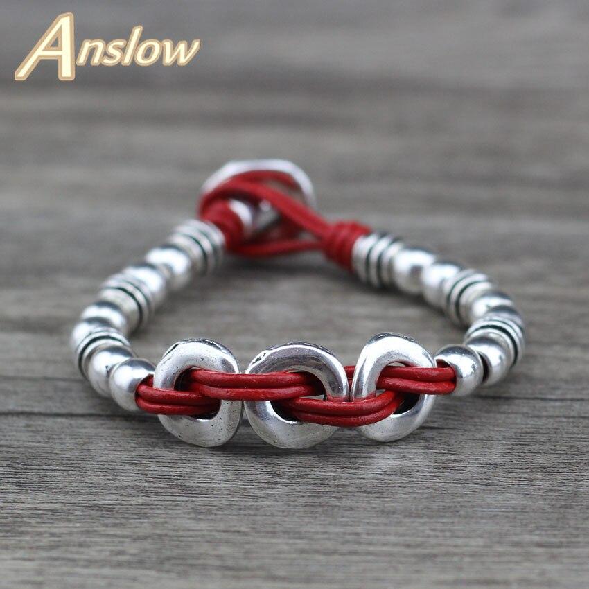 Anslow 2018 Creative Design De Mode Bijoux En Cuir Wrap Vintage Unisexe  Femmes En Gros Bracelet Cadeau du Jour de Mère LOW0630LB e558ae02aaa4