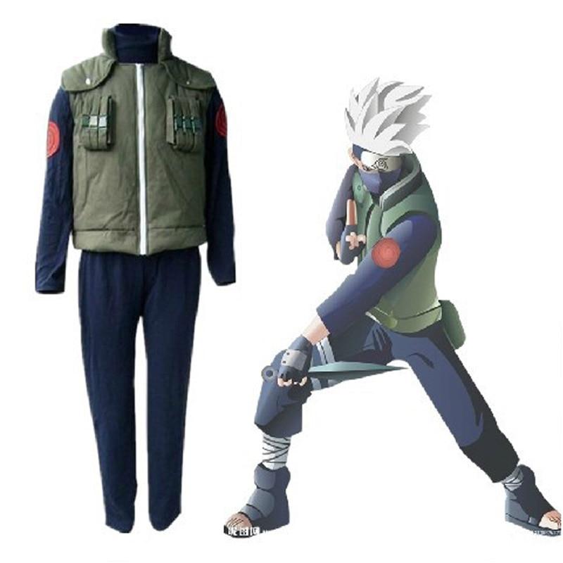 Naruto Kakashi cosplay costumes clothes top + vest + pants halloween costume Cos 3pcs/set