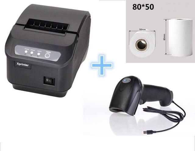 Подарок 1 Термобумаги + 1 Сканер + POS принтера 80 мм тепловая чековый принтер Q200 II автоматической резки USB последовательный порт Ethernet