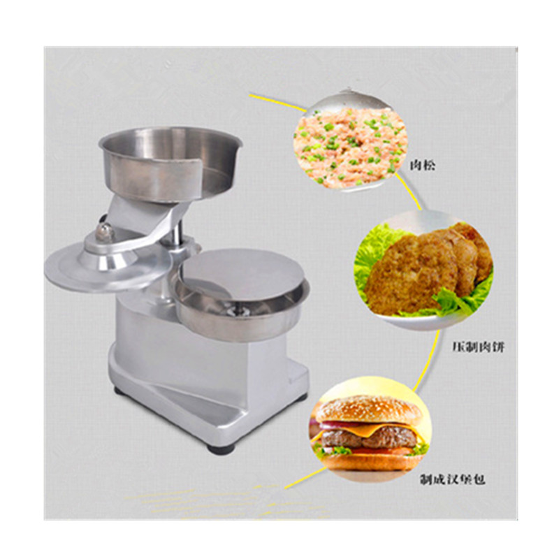 Manual burger meat pie forming machine hamburger patty making machine meat pie maker hand press hamburger patty making forming machine