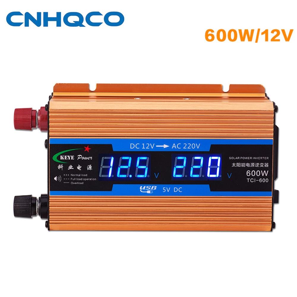 все цены на Solar Power Inverter 600W Peak DC 12V DC To AC 220V Modified Sine Wave Power Converter with USB AE176 онлайн