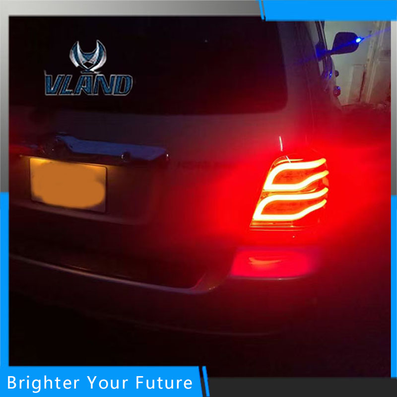 2pcs LED Rear Lamps Fit For Toyota Highlander Kluger 2001-2007 Tail Lights Assembly free shipping led tail lamps assy bm style light bar rear lamps tail lights fit for hyundai elantra 2012 2015
