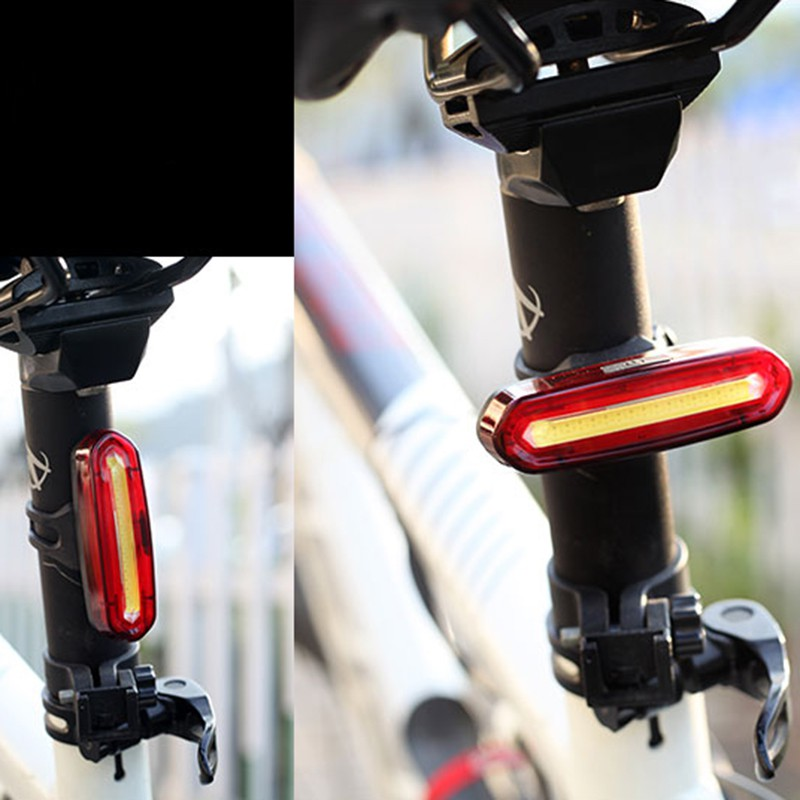 100 <font><b>LM</b></font> Rechargeable LED USB Mountain <font><b>Bike</b></font> Tail <font><b>Light</b></font> Taillight Safety Warning Bicycle Rear <font><b>Light</b></font> Night riding COB warning <font><b>lights</b></font> image