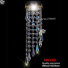 D85mm светодиодный K9 хрустальные люстры для гостиной, коридора, кухни, ванной комнаты, спальни, кабинета и балкона
