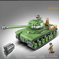 Technic Military Heavy Tank Soldier Weapon Building Blocks WW2 Tank Brick Toys 100062 1068pcs for Kids Gift