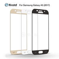 10Pcs Lot Nicotd Full Cover Tempered Glass For Samsung GALAXY A5 2017 A520F A520 5 2