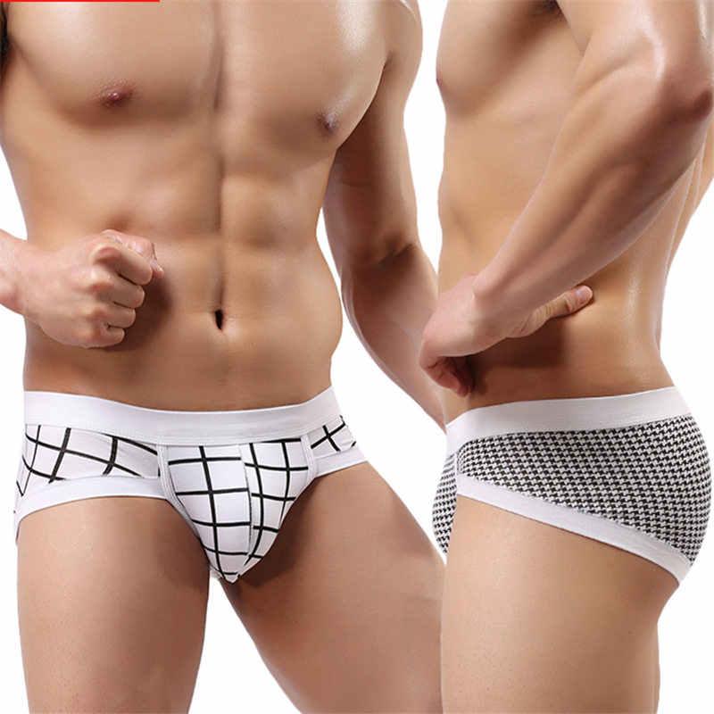 76b570108e33 Fashion Sexy Print Men Briefs U Convex Big Penis Pouch Design Underwear Man Panties  Triangle Pants