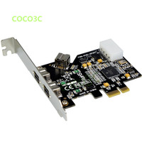 2 + 1 Ports 1394B PCIe card PCI express to 3 ports Firewire 800 400 IEEE 1394 For HD DV Camcorder Digital Camera