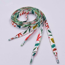 New Arrival Colorful Printing Polyester Shoelace Sneaker Running Shoelace