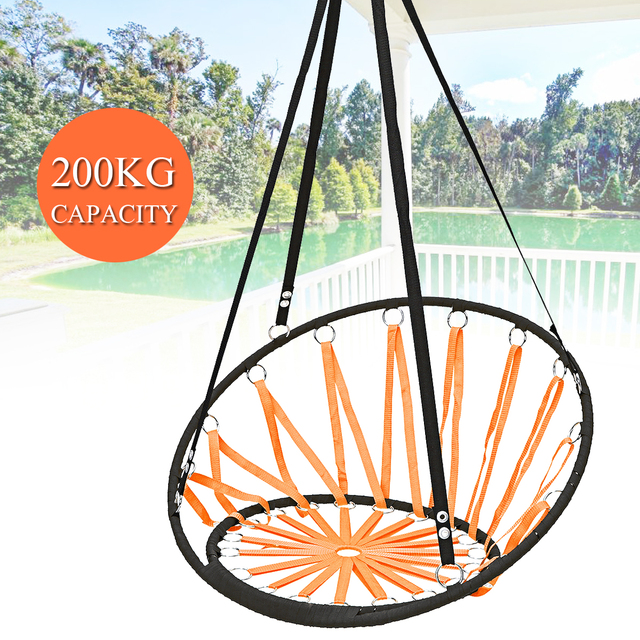 Nordic Outdoor Indoor Cotton Rope Hammock Chair Swinging Hanging