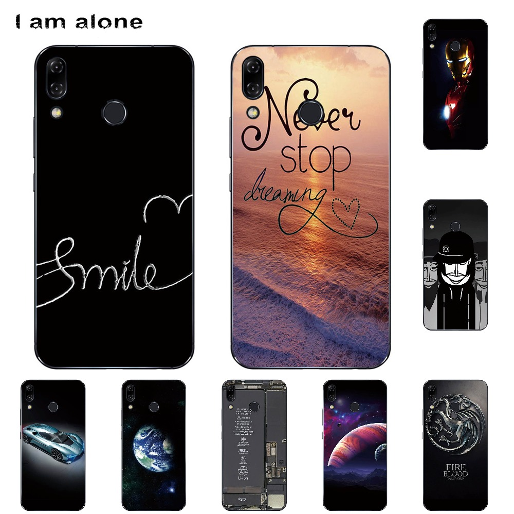 I am alone Phone Cases For Lenovo Z5 6.2 inch Soft TPU Mobile Fashion Color Cute Black Cover For Lenovo Z5 Bags Free Shipping