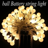 2M 20 LED Ball AA Battery Operated LED String Lights For Xmas Garland Party Wedding Decoration