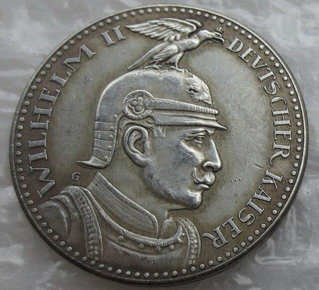 Deutsch Münzen Preußen Deutsch S 5 Mark 1913 Proof Bronze Muster