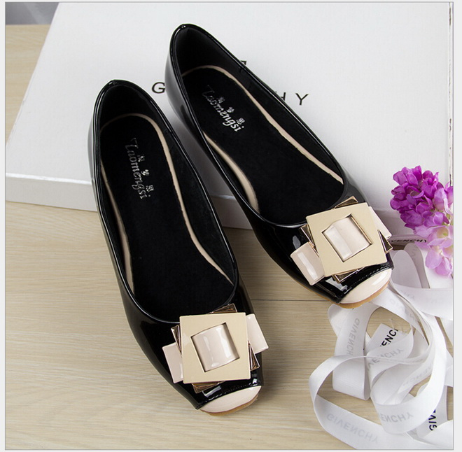 Spring Summer Fashion cute Patent Leather shoes square toe women flats ballet flat shoes woman 2018 new genuine leather flat shoes woman ballet flats loafers cowhide flexible spring casual shoes women flats women shoes k726