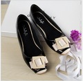 Spring Summer Fashion cute Patent Leather  shoes square toe women flats ballet flat shoes woman