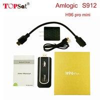 10 stücke amlogic s912 stick 64bit 8-core android 7.1 tv box 2G 8/16G Unterstützung 4 Karat H265 h96 pro mini smart player