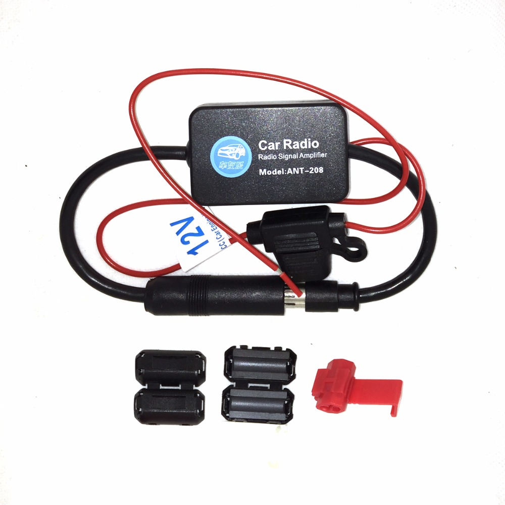 Car Antenna Fm Radio Signal Antenna Amplifier Booster Fm Radio Signal Amplifier Universal Connector