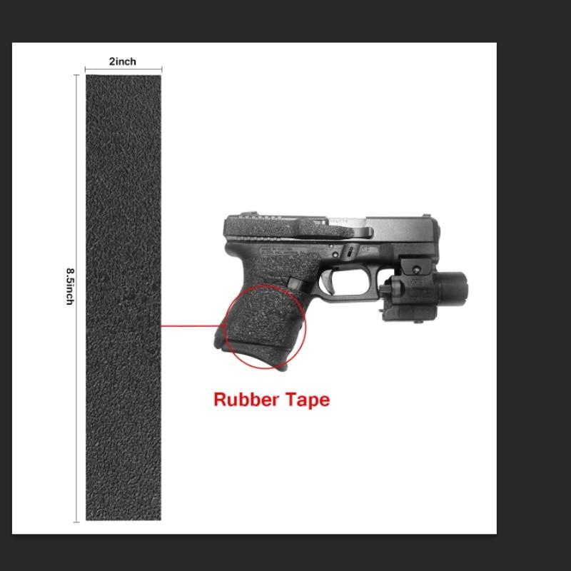 Non Slip Rubber Texture Grip Wrap Tape Glove Custom For Glock 43 Holster Fit For 9mm Pistol Gun Magazine Accessorie