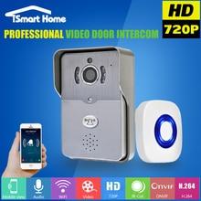 WiFi Timbre Video de La Puerta de Intercomunicación Teléfono de Bell de Puerta Con Cámara wi-fi A Prueba de Lluvia de Portero IR Cámara de Visión Nocturna para la Seguridad Casera